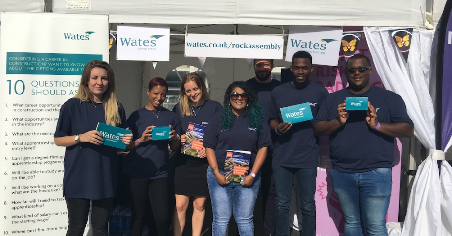 Wates at the Transformation Trust Rock Assembly - July 2017