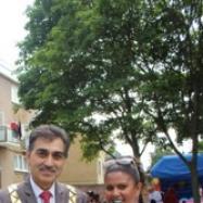 Aruna Jassal with the Mayor